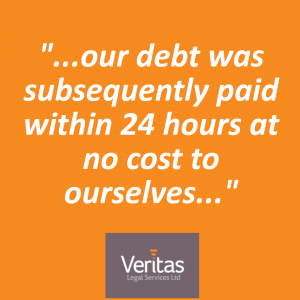 """Our debt was subsequently paid within 24 hours at no cost to ourselves"" – Gleave Media, Devon"